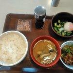 すき家 花巻中央店 - まぜのっけご飯朝食(ご飯ミニ)