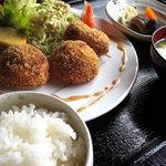 山麓キッチン - コロッケ定食