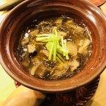 どんつき左 - 貝の茶碗蒸し