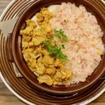 北海道チーズフォンデュファクトリー 炭リッチ - ウニと蟹のグラタン