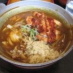 お食事ができる製麺所 なごみ - 料理写真:氷見カレー鍋うどんカツスペシャル980円