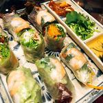 ベトナム料理 インドシナ - 巻くの、意外とめんどくさいよね、生春巻き