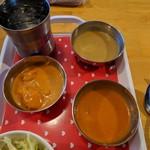 インド料理 サマン - キーマ、日替わり、チキンカレー