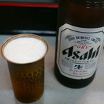 盛運亭 - ビールのコップが銅製ってものシブい
