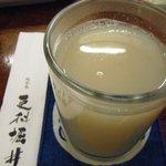 総本家更科堀井 - 焼酎の蕎麦湯割り