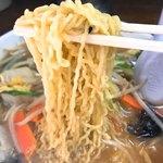 湯村食堂 - みそラーメンの麺
