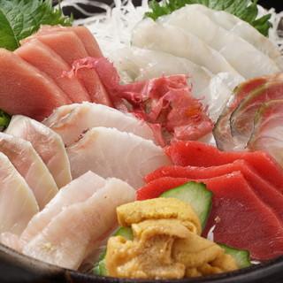 岩手三陸から直送の鮮魚を使用したお料理