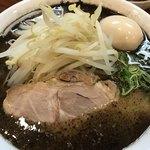 麺の房 味わい亭 - 辛味豚骨味玉