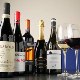 ワインも多く取り揃えております。