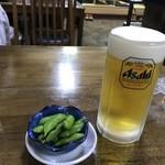 れんげ屋 - 生ビール