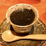 焼鳥 輝久 - ○フォアグラと大川の生海苔茶碗蒸し様