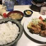 喫茶MG - 唐揚げ定食ご飯大盛 730円