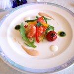 アクア オリビン - 小海老とスムールのサラダ仕立て オーロラソース