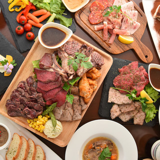 自慢の肉バル宴会コース!名物肉盛りプレート付き!