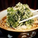文殊 - 立ち食い蕎麦の春菊天って、東京名物だと思います