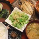 和楽 酔竹 - 本日のランチ 自家製鰺の開きと揚出し豆腐