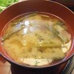 和楽 酔竹 - 味噌汁