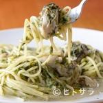 イタリアン食堂Bright.D - 女性に人気の一品『牡蠣と生青海苔のクリームパスタ』(期間限定)