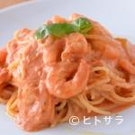 イタリアン食堂Bright.D - オープン当初より大人気メニュー『小海老のトマトクリームパスタ』