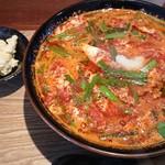 金辛麺 - 料理写真:25辛 今日のオマケはポテトサラダでした!まろやか。