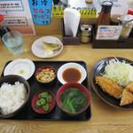 鰺家 - アジフライ定食/アジカラアゲ