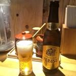 つけ麺屋 やすべえ - ビールは小瓶なの