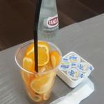 パラボラチョ・カフェ - ドリンク写真:日南産レモンソーダ