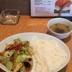 天慎飯店 - 回鍋肉飯 800円