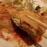パームカフェ - 白身魚のパイ包焼き(断面)