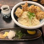 うどん 兎麦 - とり天おろしぶっかけ(770円)