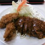 キッチンアオキ - 牡蠣フライとメンチカツ