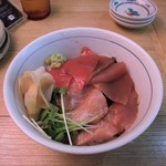 85712119 - 【ランチ丼】漬け鮪二種丼