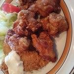 アゼリア - 料理写真:Cセット(フライものと 鶏のからあげ ごはん付き)950円