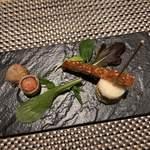 ガストロノミーソール ヤナギヤ - ソーセージの春巻き リエット トリュフたまごサンド 胡麻のパイ