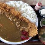 <民宿>しをみ食堂 - カツカレー「850円」 100円高くなってました( ̄▽ ̄)