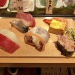魚がし日本一 - ランチセット 楓 10貫 800円