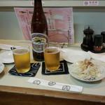 喜美松 - 瓶ビール(キリン大瓶660円)