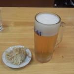 ラーメン コント - 生ビール(中)(550円)