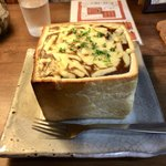 カフェ 呂久呂 - チーズカレージャンボトースト
