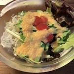 カフェ 呂久呂 - ドレッシングが甘く美味しい
