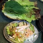 ジャガルチ市場 - サンチュとネギサラダ