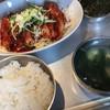 よっこらしょっ - 料理写真:「セセリからし焼き定食」780円+「辛さ2倍」60円    スープとご飯、お代わり自由です。