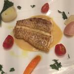 セストセンソ - 愛媛県産真鯛と季節野菜のオーブン焼き スプマンテクリームソース