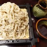 楽々亭 - 料理写真:もりそば大盛り1200円