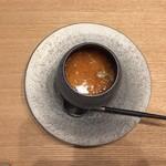 85751337 - フォアグラとえびの茶碗蒸し