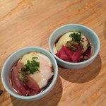 池三郎 - お通しはマグロと温玉
