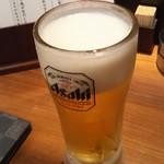 豚しゃぶ せいろ蒸し HARU - 生ビール