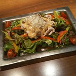 豚しゃぶ せいろ蒸し HARU - 春野菜の豚しゃぶサラダ