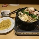 魚民 - 「もつ鍋 麺付」798円(税別)862円(税込)