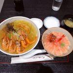 85757978 - 羽幌甘えび丼&羽幌えびしおラーメン